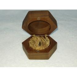 Ringendoosje hout zeshoek