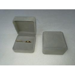Ringendoosje kubus XL luxe 2 ringen lichtgrijs