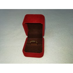 Ringendoosje kubus luxe 1 ring donkerrood