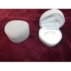 Ringendoosje Hart - 1 Ring grijs wit