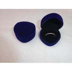 Ringendoosje Hart - 1 Ring blauw zwart