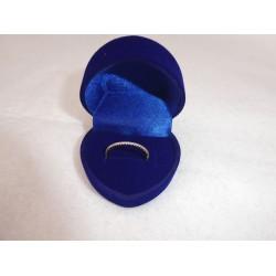 Ringendoosje Hart - 1 Ring blauw blauw