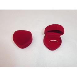 Ringendoosje Hart - 1 Ring licht rood rood