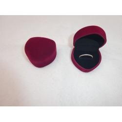 Ringendoosje Hart - 1 Ring donkerrood zwart