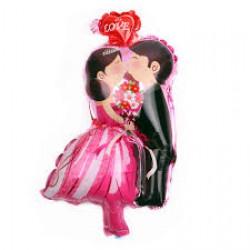 Ballon bruidspaar kus