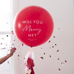 "Ballon ""Will you marry me?"""
