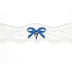 Kousenband off white blauw lint