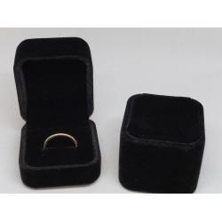 Ringendoosje kubus luxe 1 ring zwart