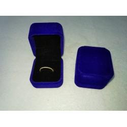 Ringendoosje kubus luxe 1 ring blauw