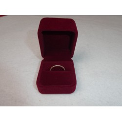 Ringendoosje kubus luxe 1 ring rood rood