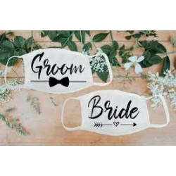 Mondmasker set Bride en Groom