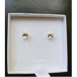 Oorbellen Hart kristal zilver