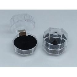 Ringendoosje acryl zwart