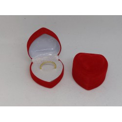 Ringendoosje rood hart 1 ring