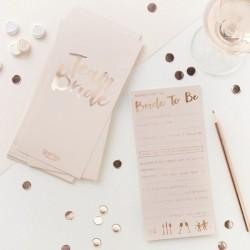 Advieskaartjes - roze en rose goud advieskaartjes voor de bruid