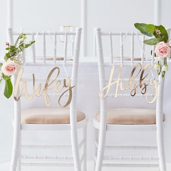 Stoelhangers Gold Wedding