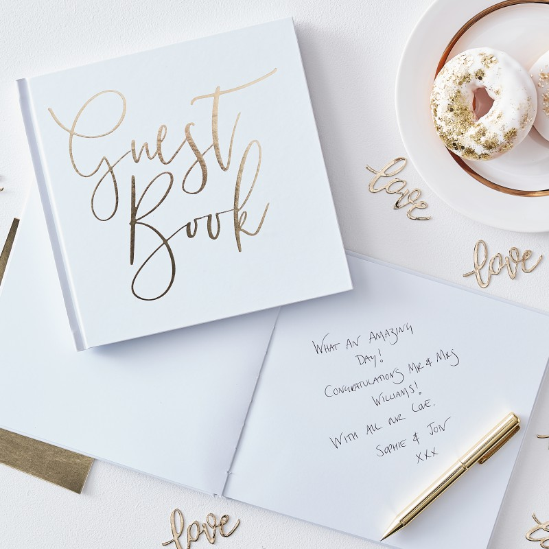 Gastenboek Gold Wedding