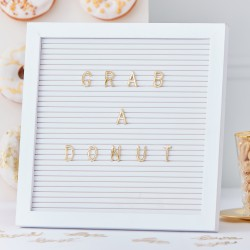 Letterbord Gold Wedding