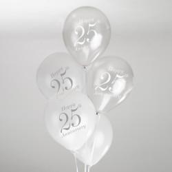 Ballonnen 25 jaar jubileum  8 stuks