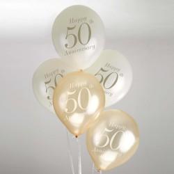 Ballonnen 50 jaar jubileum  8 stuks