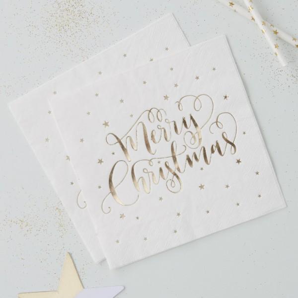 Servetten Gold Merry Christmas!