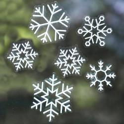 Sneeuwvlokken Raam Stickers  24 ST