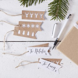 Cadeau Labels Rustic Christmas