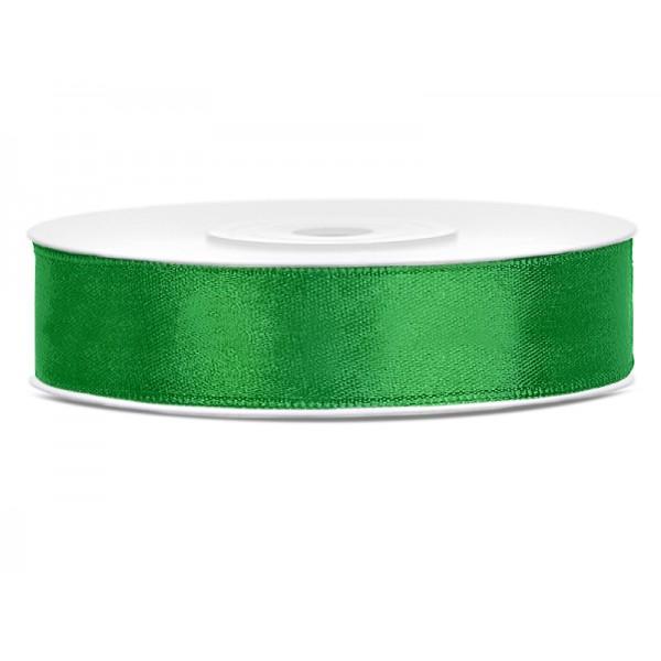 Lint satijn smaragd groen