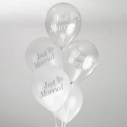 Ballonnen Just Married Silver Romance