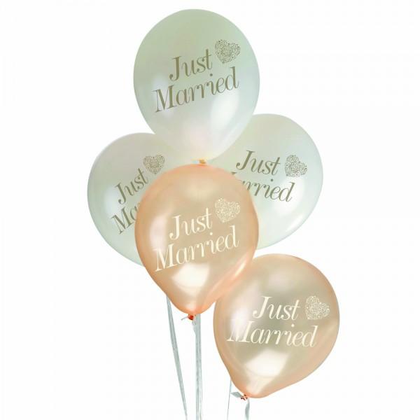 Ballonnen Just Married Gold Romance