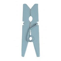 Mini Knijpertjes Lichtblauw  24 ST