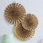 Paper fans Kraft Polka Dot  3 stuks