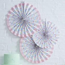Paper fans Sprinkels  3 stuks