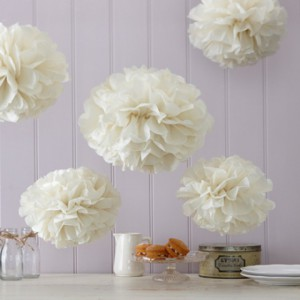 Pompoms, Honeycombs en Paper Fans