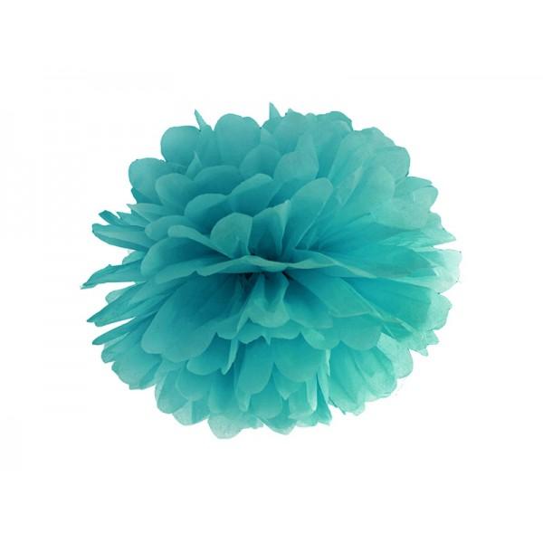 Pompom donker blauwgroen