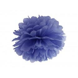 Pompom marine blauw