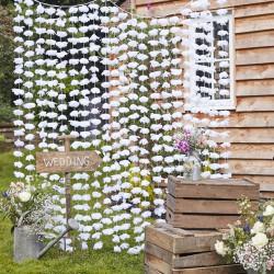 Witte Bloemen Back Drop