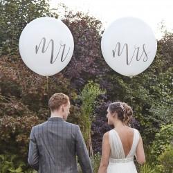 Mega Ballonnen Mr en Mrs  2 stuks