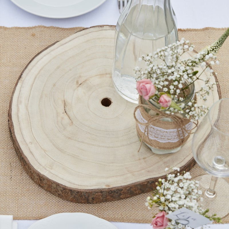 Houten plateau boomschijf for Boomstam decoratie