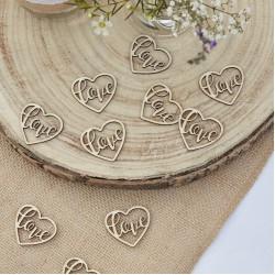 Houten confetti Love
