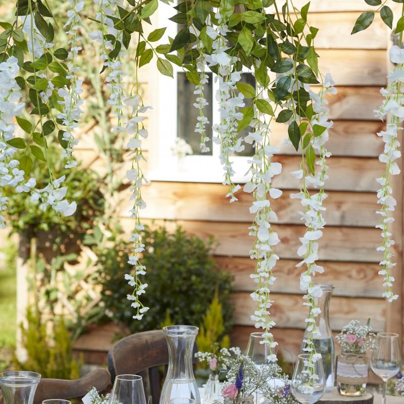 Bloemen decoratie wit wisteria for Interieur decoratie online shop
