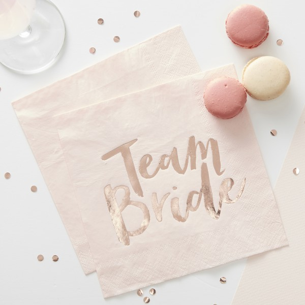 Servetten Team Bride