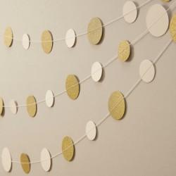 Glitter cirkel slinger ivoor en goud