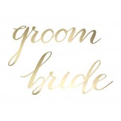 Stoelhangers Groom en Bride