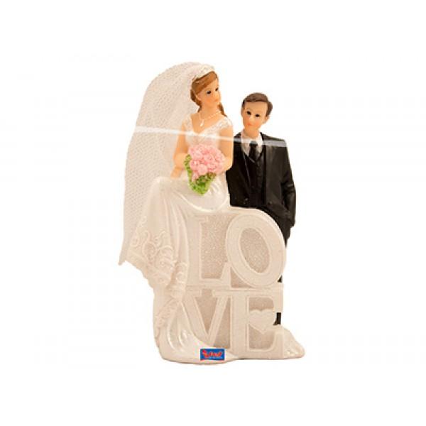 Taarttopper bruidspaar LOVE
