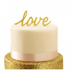Taarttopper 'Love' Goud