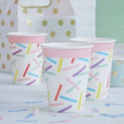 Sprinkles papieren bekertjes  8 stuks