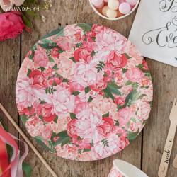 Floral Boho bordjes  8 stuks