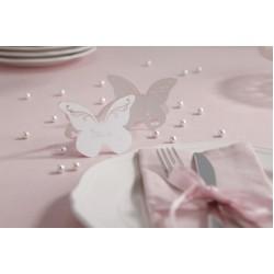 Plaatsnaamkaartjes Vlinder wit  10 stuks