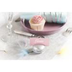 Naamkaartjes wit, grijs, ivoor, turquoise, roze of mint  10 stuks